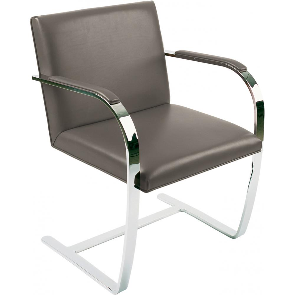 Chair Brno style Ludwig Mies van der Rohe - Classic Leather Taupe