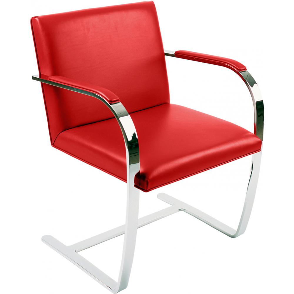 Chair Brno style Ludwig Mies van der Rohe - Classic Leather Red