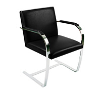 Privatefloor Chair Brno style Ludwig Mies van der Rohe - Classic Leather