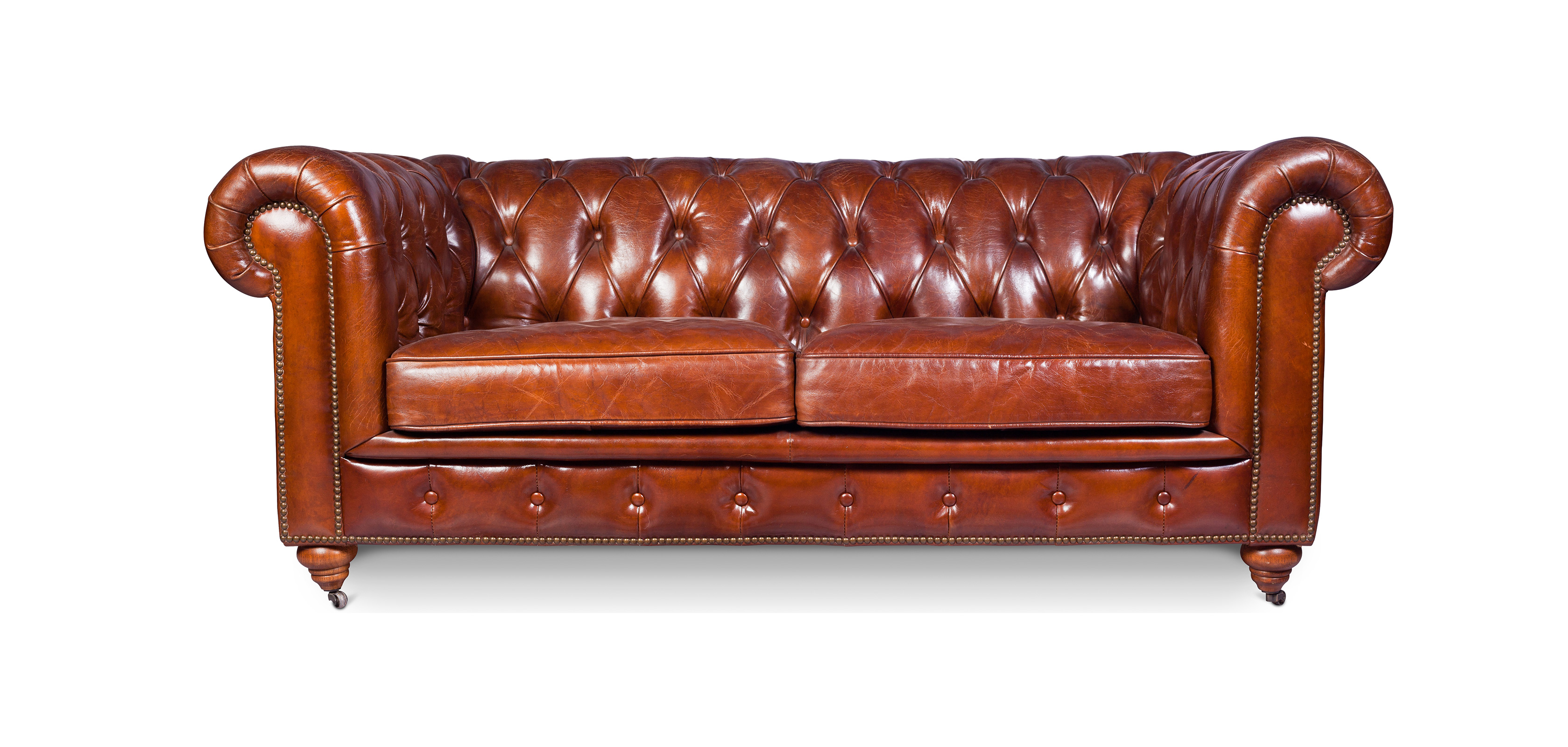 Chesterfield Sofa Churchill Lounge 2 Places Premium Leather